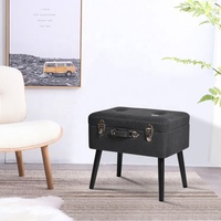 Mayco Modern Home Living Colorful Storage Stool Fabric Trunk Ottoman Suitcase Foot Rest Ottoman