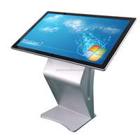43 inch indoor floor standing Touch Screen Kiosk for check information and Self-service