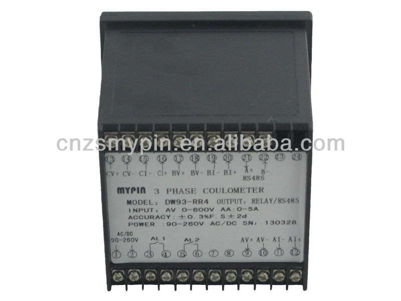 MYPIN 3 phase RS485 M-bus current voltage frequency meter(DW9-3NN4AV600AA5)