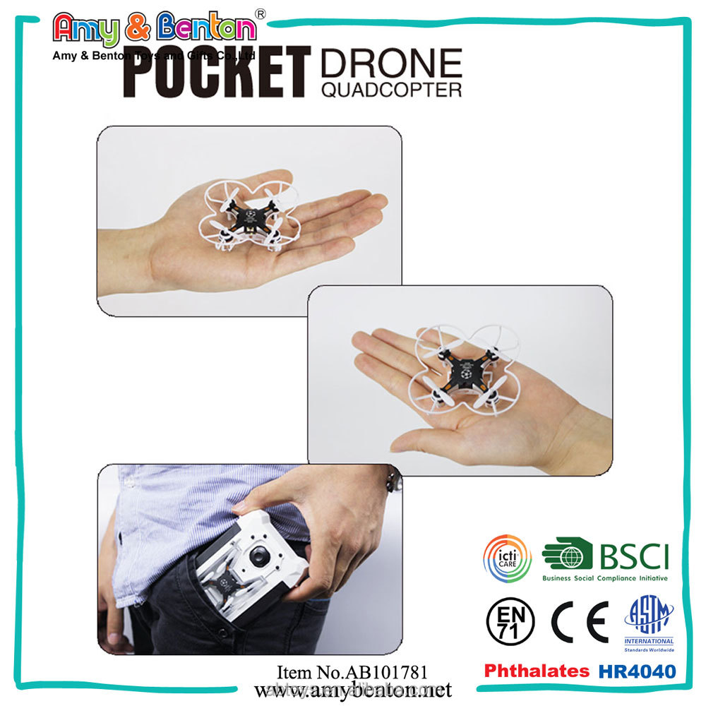 Newest Mini Pocket Drone 4CH Pocket Drone Quadcopter For Sale
