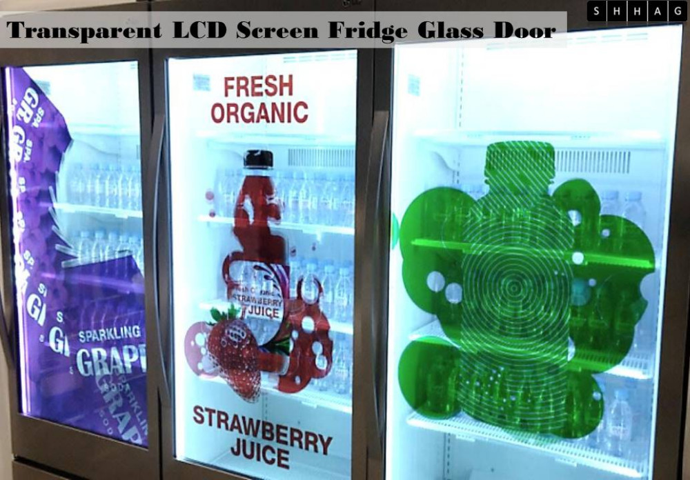 Transparent Lcd Screen Fridge Refrigerator Freezer Cooler