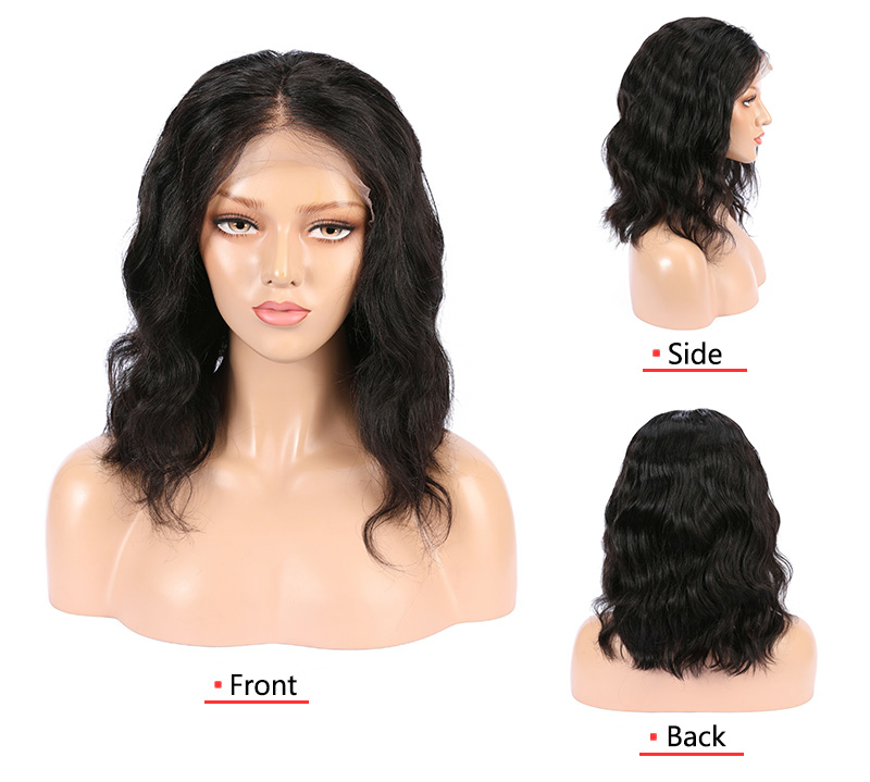 Non-chimico commerci all'ingrosso prime vergini dei capelli trasparente onda naturale dei capelli umani parrucca piena del merletto