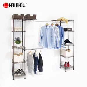 Adjusting House Metal Hanging Clothes Garment Rack
