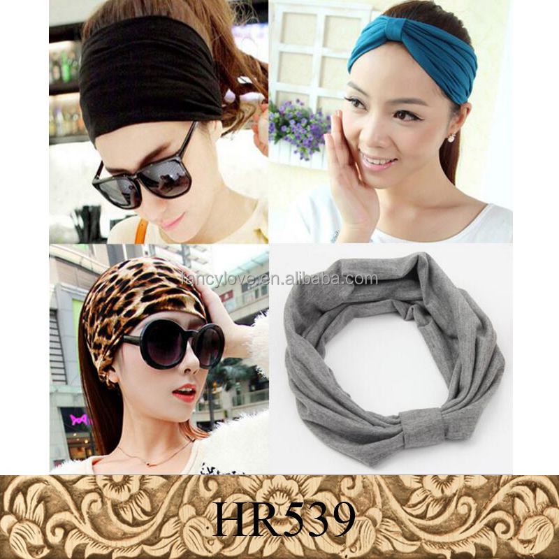 Korea style wide hair accessories sport yoga knot <strong>headbands</strong> for women