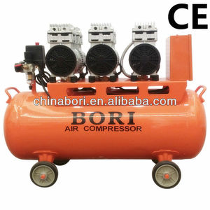 China top factory high quality 65L 110 220V noiseless oil free air compressor