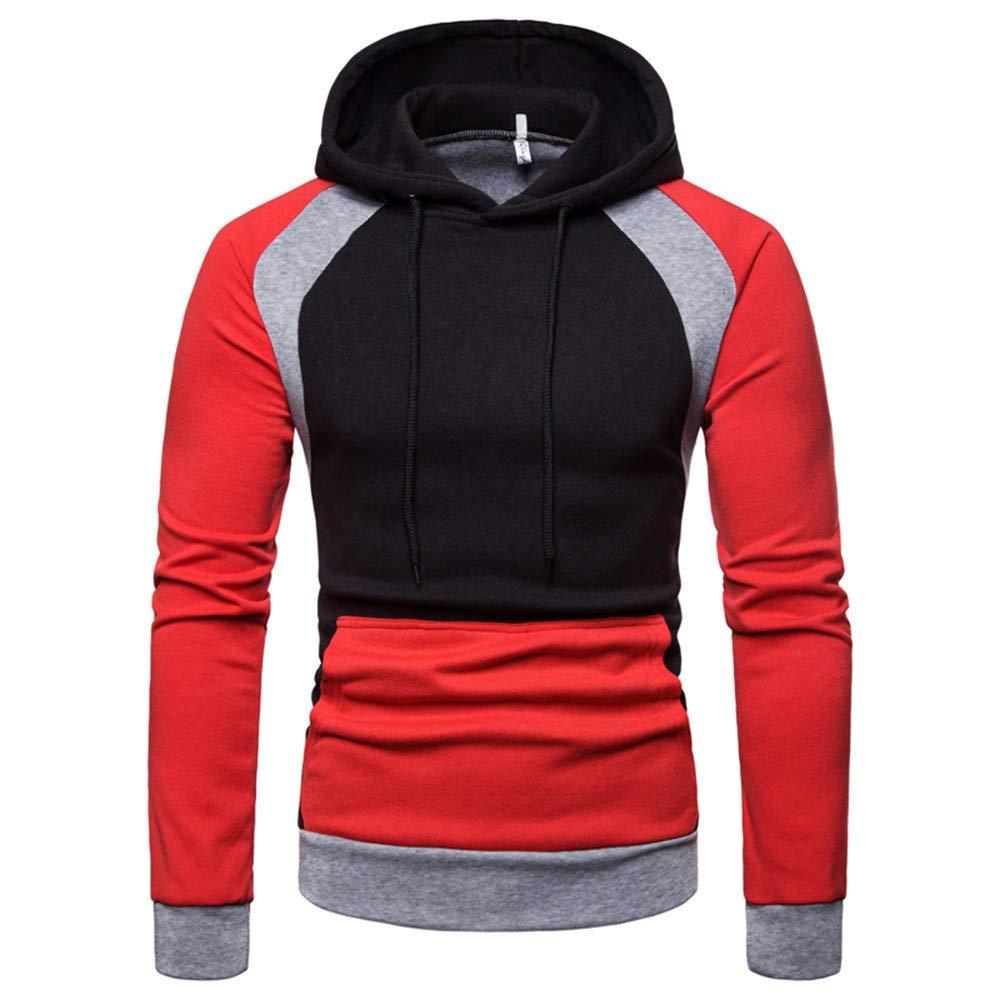 Photno Mens Sweatshirts,2018 Raglan Hoodie Jacket Pullover Hooded Sweatshirt Tops Hoodies Men