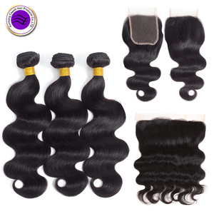 100 Percent Natural 7a 8a 9a 10a Grade Human Virgin Indian Woman Long Hair Sex Body Wave Bundles With Frontal