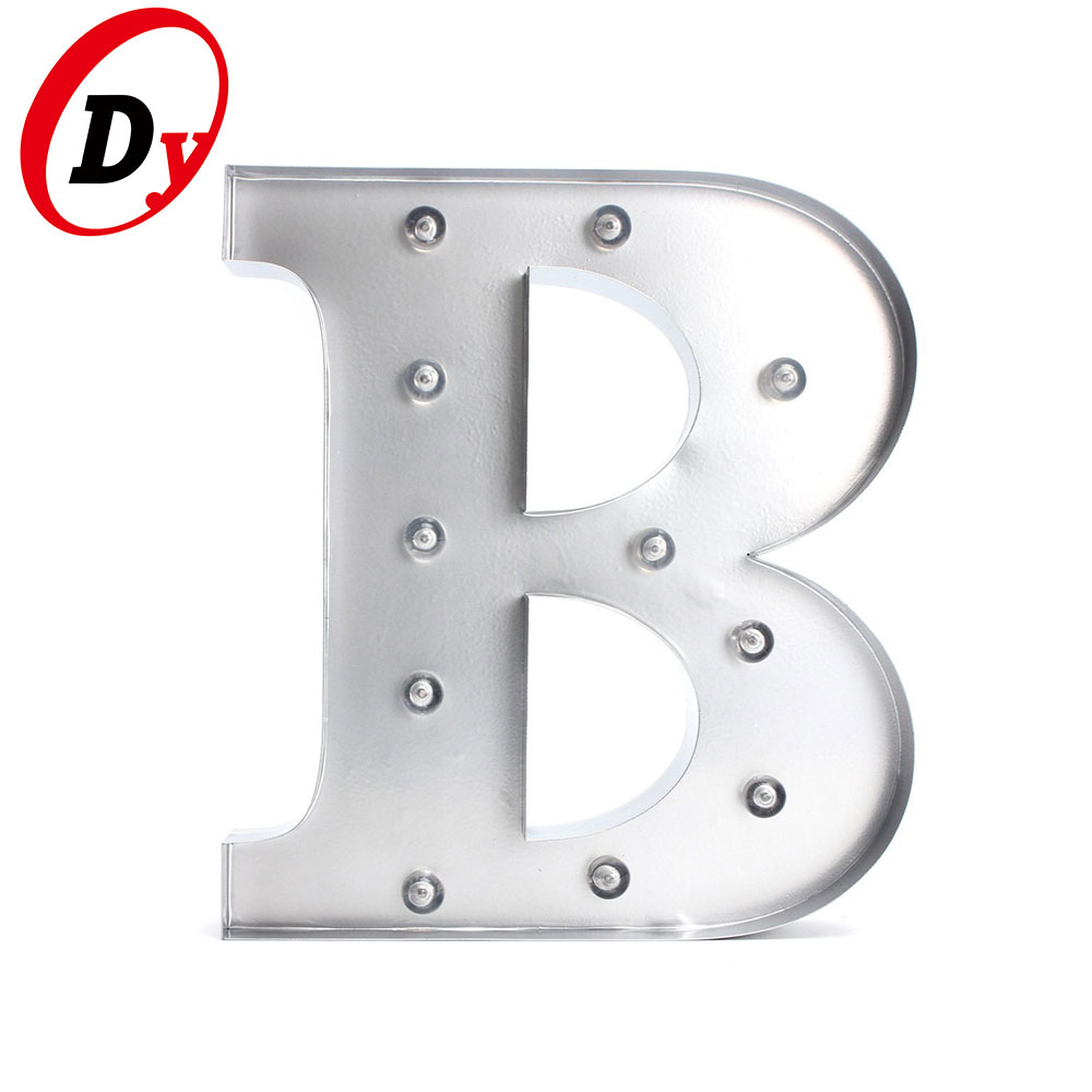 Custom made metal vintage alphabet letters light up battery operated marquee letter lights for sale