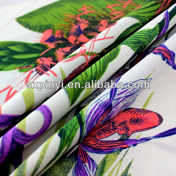 Poly cotton European style satin drapery fabric fabric for garment