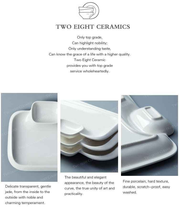 Wholesale restaurant hotelware china ceramic plates dishes plates with sauce dish