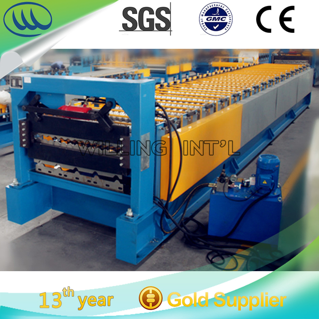 High quality and speed double layer building used metal roofing roll forming machine/machinery