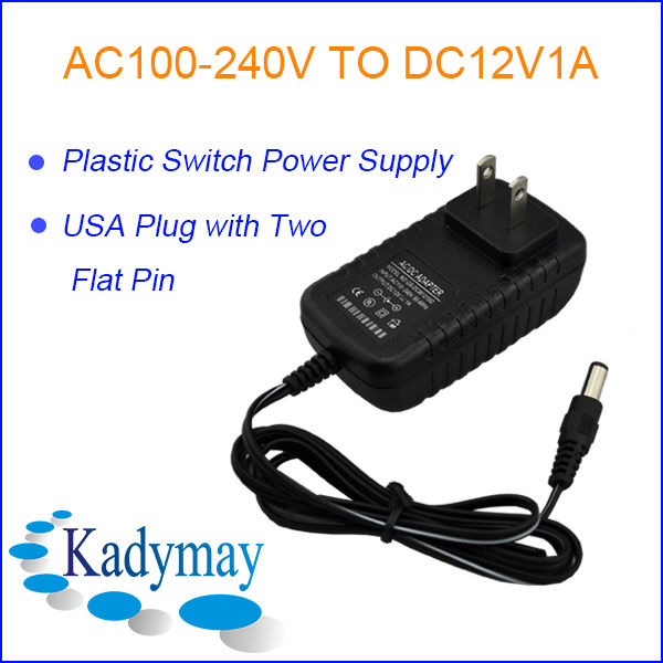 Modern&Switching AC to DC 12 Volt Power Adapters with European/ USA/ UK/ Australia/ Brazil/ Sweden Plug for CCTV Camera