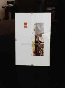 Clip Snap Frameless Glass Photo Frame With Large Foam Corners For