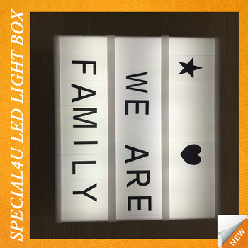 Light Box With Letters Alphabet Decorative Bo Splb 002