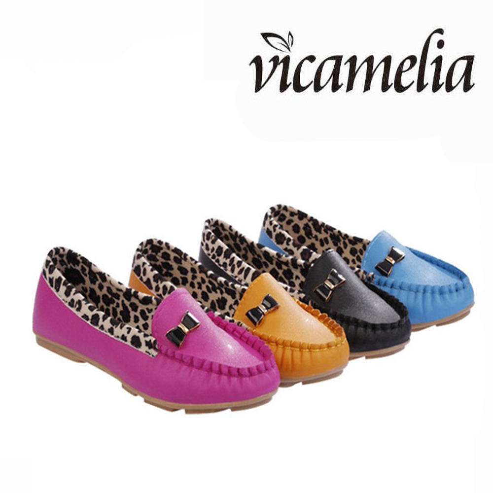 2017 Skidproof Opera Leopard <strong>grain</strong> Women Flat Shoes Lady Casual Shoes Shallow Flats