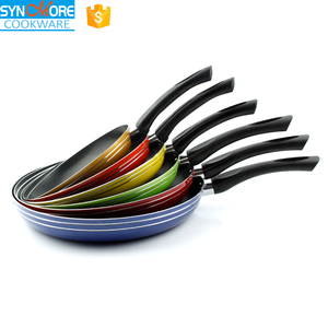 Induction Bottom Aluminum Non-Stick Omelette Flat Frying Pan/Griddle Pan