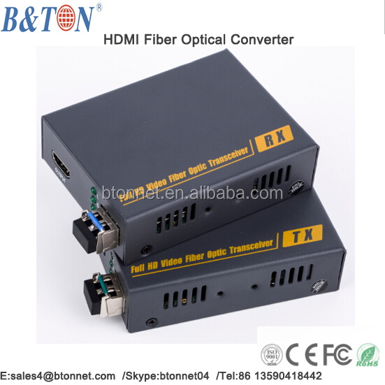 1080P uncompress Video Audio To Fiber HDMI Optic Converter - Fiber Optic Transmitter and Receiver. Single Mode/Multimode