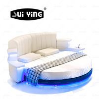 latest design round bed with speaker retail availableCY006