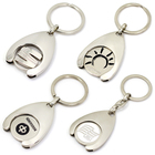 Custom Metal Coin Holder Keychain, Coin Key Ring Trolley Token Metal Holder