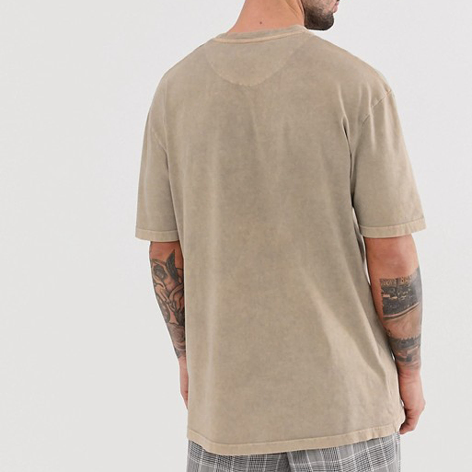 2019 Men fashion design oversized plain vintage stone  washed t shirts