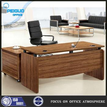 Madera moderno escritorio mesa de oficina mobiliario de oficina peque a mesa para ordenador - Mesa ordenador pequena ...