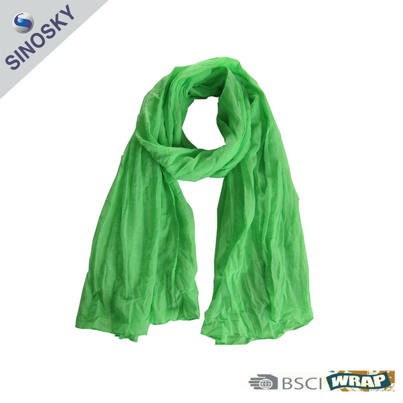 mens crinkle scarf (100% polyester)