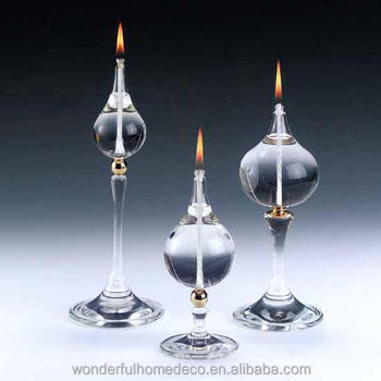 Hot Sale Decorative Indoor Small Decorative Glass Oil Lamp