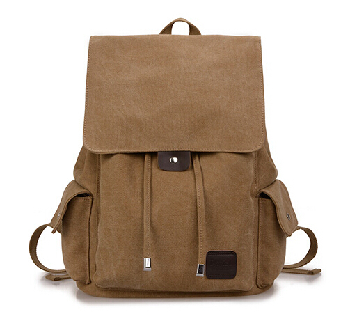 Men Canvas Backpack For School Fashion Sports Cotton String Vintage Book Bag Casual Daypack Rucksack In Price On M Alibaba