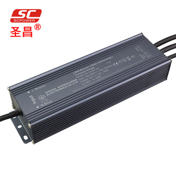 LED DIMMING driver IP66 DALI dimmable waterproof constant voltage power supply 12v 180w with 3 years warranty