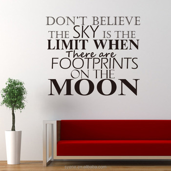 room decor 3d wall stickers vinyl wall art decal quotes don't