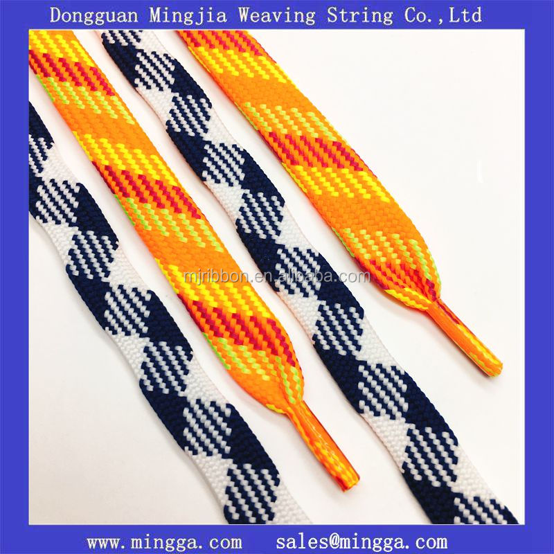 custom logo polyester waxed hockey skate laces
