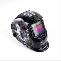 In stock Solar Powered Auto Darkening welding masks Professional Wide Lens Adjustable Shade Range Full Face Welding Helmet