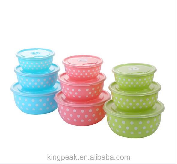 2016 Hot Plastic Mixing Bowls Good Design Salad With Lids Microwave Safe