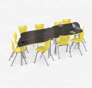 Combination student desks creator tables fit any classroom with hpl board