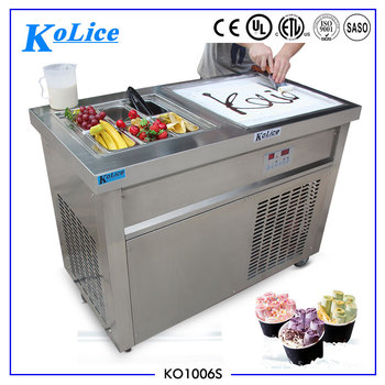 CE ROHS 50CM single durable flat pan+6 precooling tanks fry roll ice cream machine fried ice cream roll machine