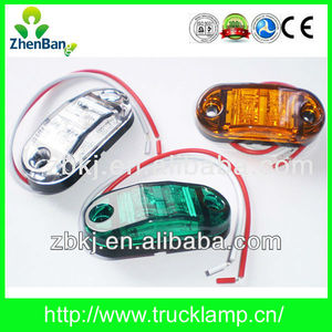 "Top Quality 2.5"" 12V/24V LED Side Marker Lights For Trucks With Emark Approved"