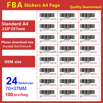 70*37mm/24 Stickers Amazon Fba Sticker Fnsku Adhesive Stickers - Buy  Adhesive Sticker,Shipping Mark Labels,A4 Blank Label Sheet Product on  Alibaba com