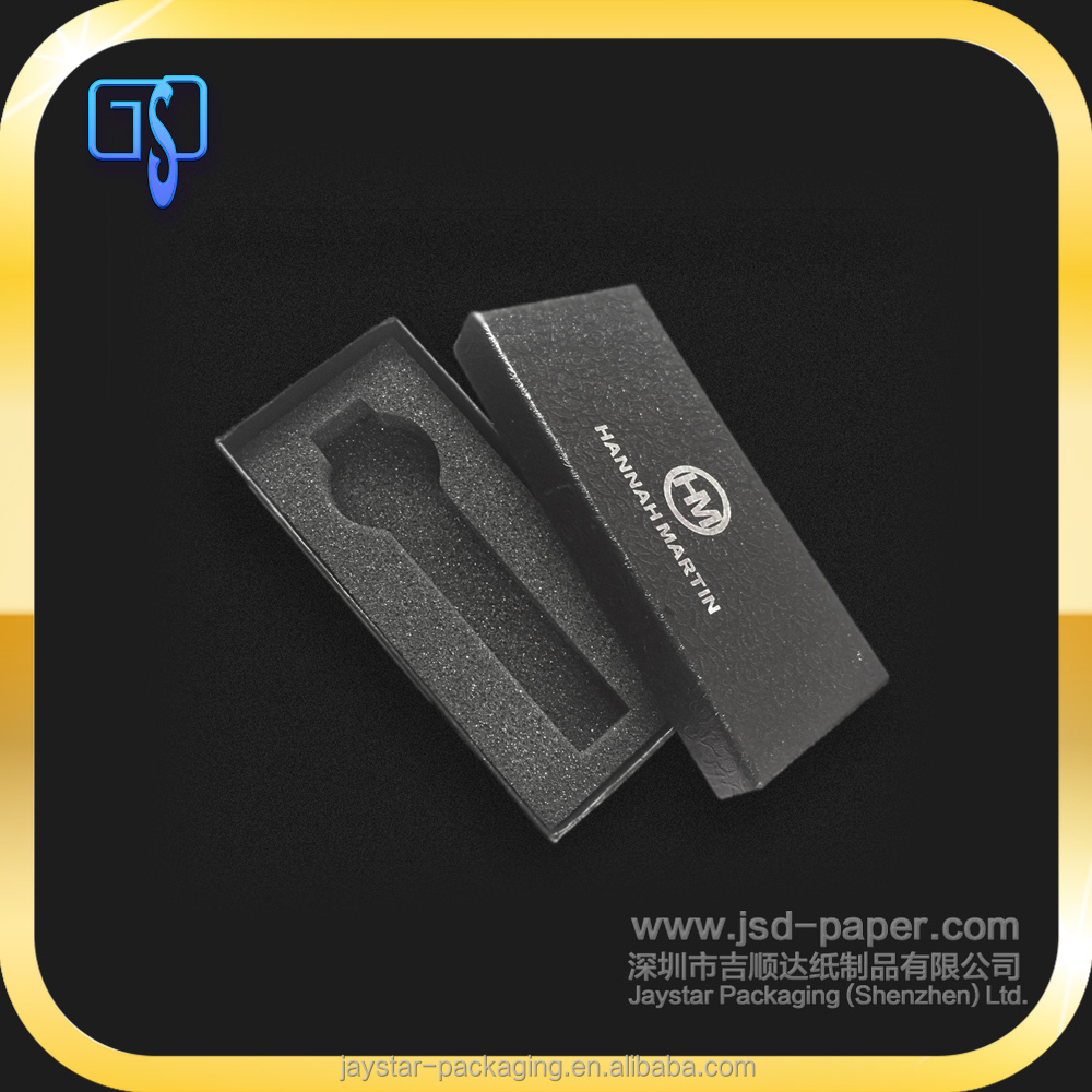 2mm thickness rigid cardboard watch box with watch strap packaging