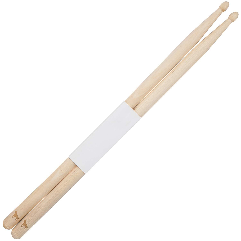 Labrador 5B Maple Drumsticks With Laser Engraved Design - Durable Drumstick Set With Wooden Tip - Wood Drumsticks Gift