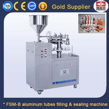 Semi Automatic Paste Aluminum Tube Filling Sealing Machine With Mixing Hopper