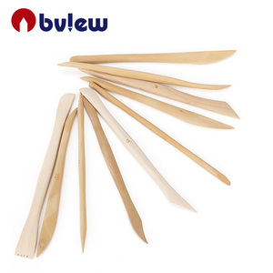 Set of 10 Wooden Shaping Clay Sculpture Pottery Modeling Carving Clay Tool
