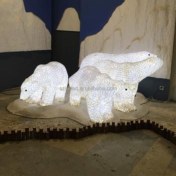 3d light motif christmas bearacrylic polar bear christmas outdoor decoration