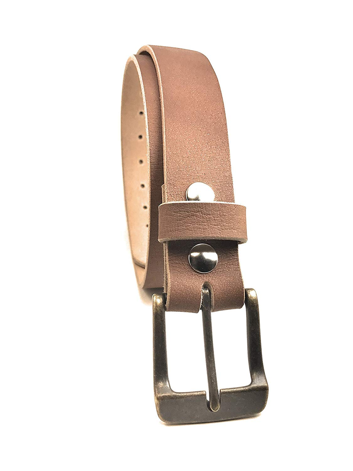 09d11f799dadc Get Quotations · Distressed Tan Raw Leather Belt Natural Full Grain Solid  Custom Mens Handmade Made in USA