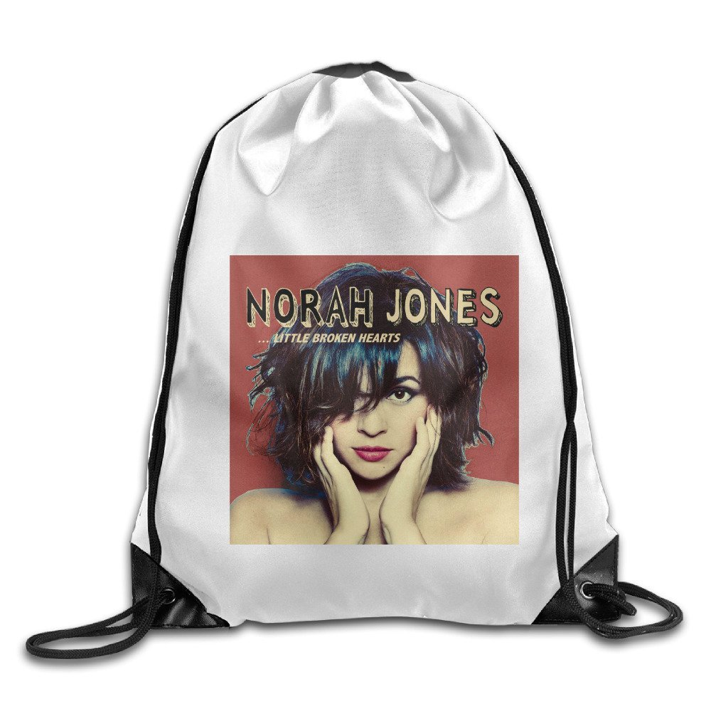 Unisex Norah Jones Is Heading To India School Drawstring String Backpack