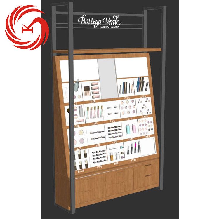 Adorable design wood cosmetic display cabinet for cosmetic shop