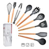 B-9pcs Silicone Cooking Kitchen Utensils Set