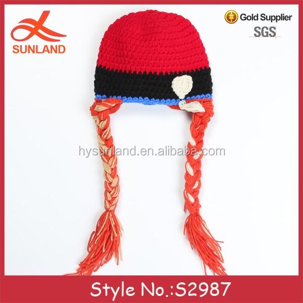 S2987 Moda Crochet Congelado Sombrero Imagen Cable Knit Elsa Bebé ...