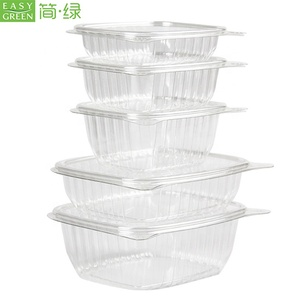 Easy Green Transparent Blister Clamshell Disposable Plastic Salad Fruit Food Packaging Box/Bowl