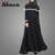 New Fashion White Detailed Elegant Abaya Dress Muslim Kaftan Islamic Clothing Dubai Abaya