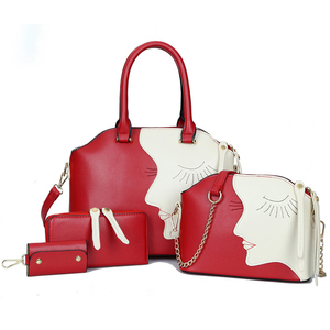 3-7 pcs in 1 set crocodile ladies bags handbag PU leather handbag bag in bags lady handbag